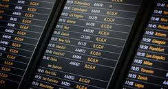 departure boards at heathrow T5