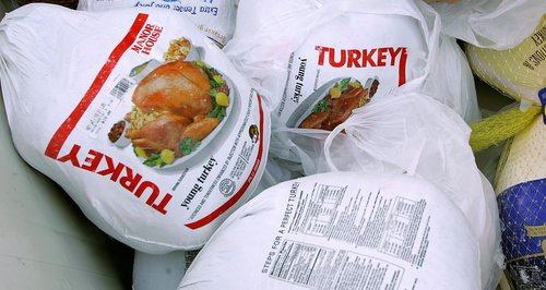 some frozen turkeys