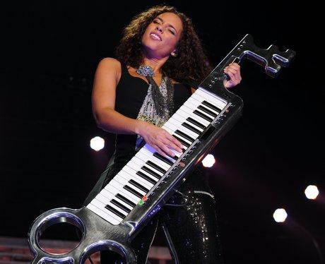 Alicia on the keys