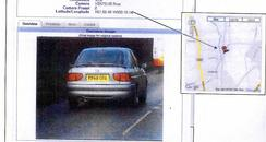 ANPR image of car