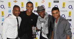 JLS attend The Nordoff Robbins Silver Clef Awards