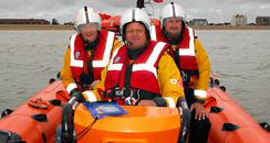 James and the lifeboat crew