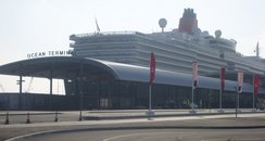 Queen Elizabeth docked at Southampton