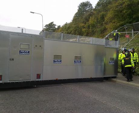 Police Cordon at EDO ITT