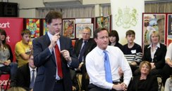 David Cameron and Nick Clegg in Nottinghamshire