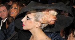 Lady Gaga backstage at the Grammys