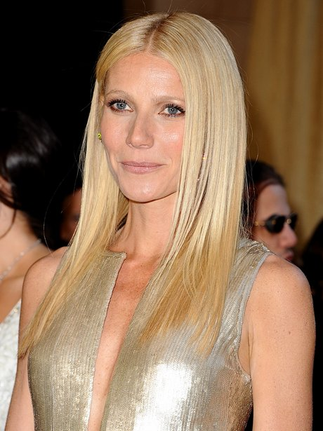 Gwyneth Paltrow in a silver dress