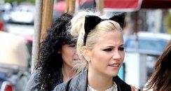 pixie lott with 'cat ears'