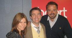 Bradley Walsh on Heart Breakfast with Jamie & Harr