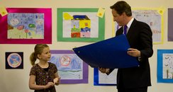 David Cameron presented Ellie Gilllman with a cert