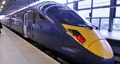 high speed train at St pancras