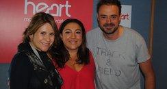 Jo Frost with Jamie Theakston & Harriet Scott