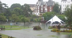 Flooding in Bournemouth in August 2011