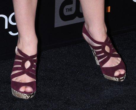 aubergine sandals
