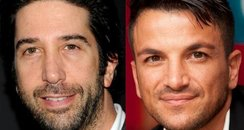David Schwimmer and Peter Andre