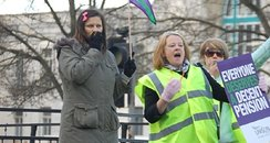 Protests over pensions and pay
