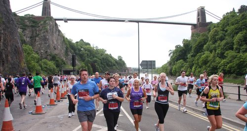 Bristol Half Marathon -Suspension Bridge