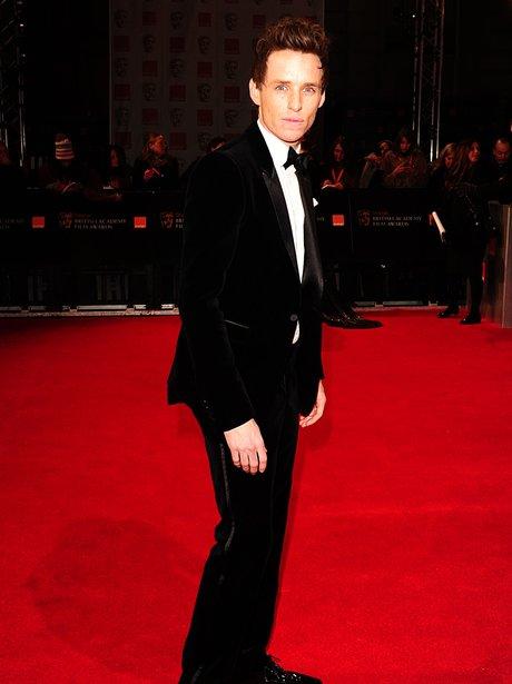 Eddie Redmayne arrives for the BAFTAS 2012 Awards