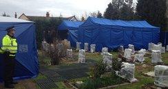 Exhumation At Fenny Stratford Cemetery
