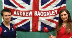 Andrew Baggaley and Heart reporter Amy Woodfield
