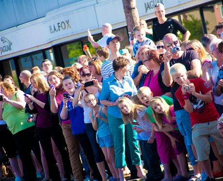 Crowds watch the Olympic Torch in Norwich