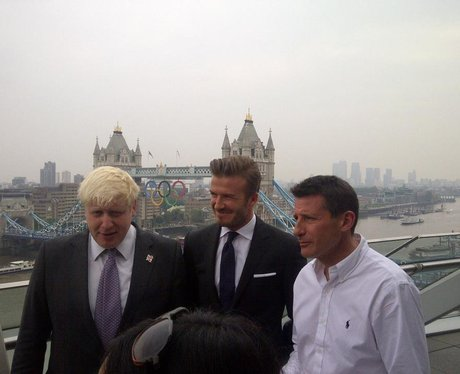 David Beckham gets ready for the Olympics