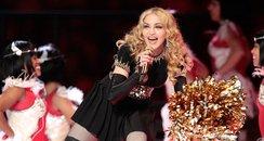 Madonna live on stage