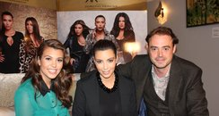jamie theakston with kim and kourtney kardashian