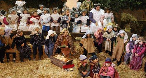 nativity scene school play