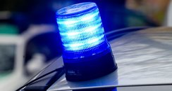 Police blue light - library picture
