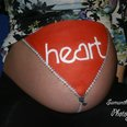 Baby Bump Painting on Heart Breakfast