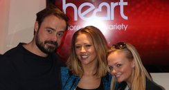 Kimberley Walsh With Jamie And Emma