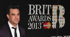 Robbie Williams seen arriving at the BRIT Awards