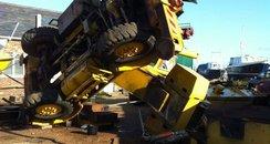 Fallen crane