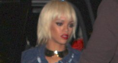 Rihanna with cropped blond hair