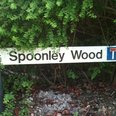 Spoonley Wood sign