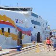 Condor Ferry passengers arrive in Guernsey