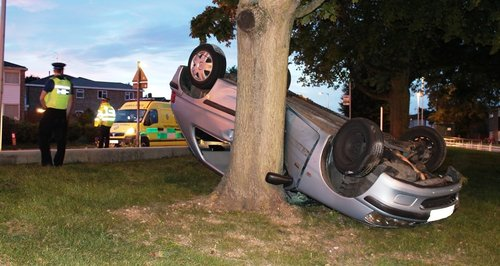 Stevenage school car crash