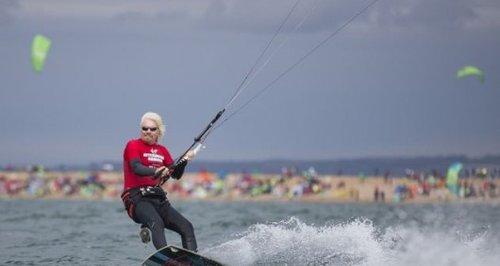 Richard Branson kitesurfing world record Hayling I
