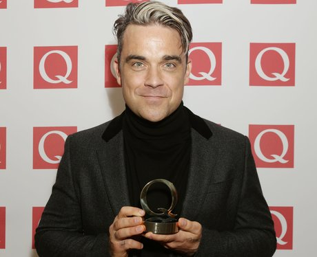 Robbie Williams recieves Idol Award at Q Awards 2013