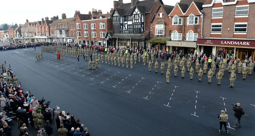 45 Company parade in Marlborough