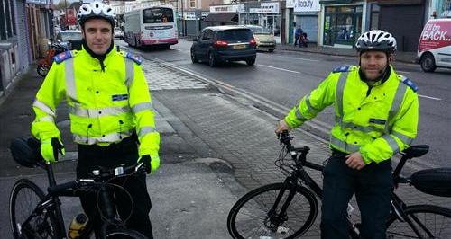 Cyclists in Bristol