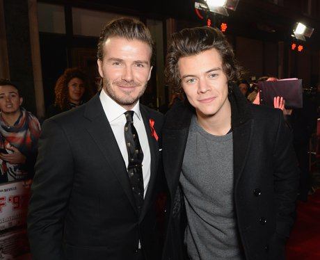 David Beckham and Harry Styles on the red carpet
