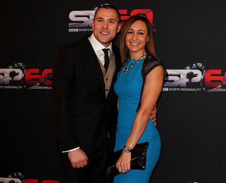 Jessica Ennis and Andy Hill on the red carpet