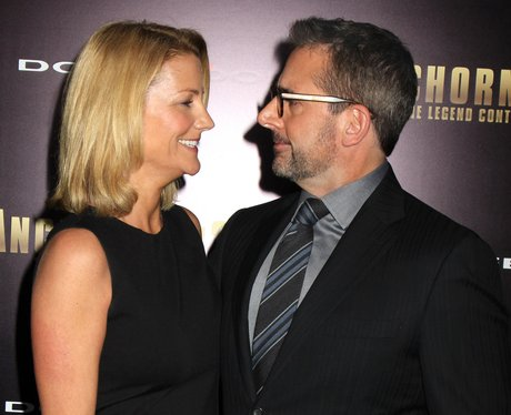 Steve Carell & Nancy Walls in the red carpet