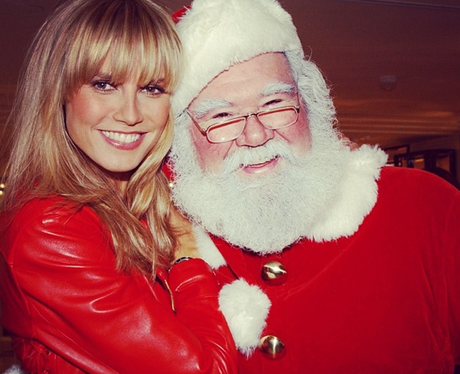 Heidi Klum and Father Christmas