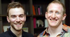 Jonny Benjamin and Neil Laybourn