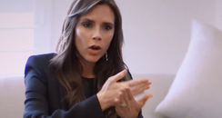 Victoria Beckham at work on her fashion line
