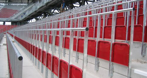Rail Seats for safe standing at football matches