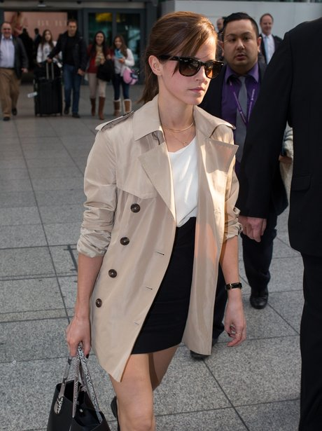 Emma Watson at Heathrow Airport